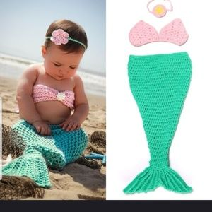 Pink and Green Mermaid costume